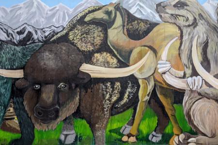 Prehistoric Mammal mural