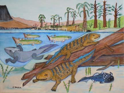 Devonian depiction - painting
