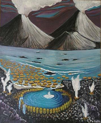 Precambrian depiction - painting