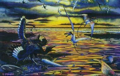 Jurassic depiction - artwork