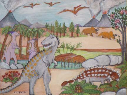 Cretaceousn depiction - artwork