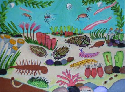 Cambrian depiction - Artwork
