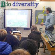 Students at a speaker series on bio diversity