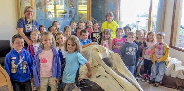 a group of elementary students at a discovery day